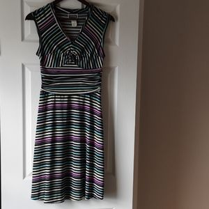 Dresses & Skirts - Selina Studio Sleeveles Striped Pastel Dress